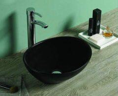 Lambini Designs Viesta waskom mat zwart 40x33x14cm