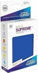Blauwe Ultimate Guard Supreme UX Sleeves Standard Size Matte Blue (80)