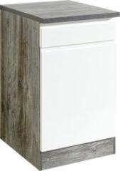 Held Möbel Unterschrank Cardiff 50 cm Hochglanz Weiß