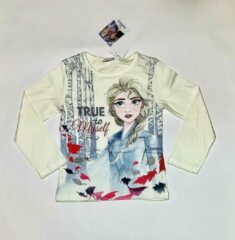 Gebroken-witte Disney Frozen Meisjes T-shirt Maat 104