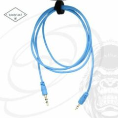 GoodvibeZ Audio Kabel 3.5mm Jack 1M male to male | Quality Cable | voor Auto Mobiel MP3-Speler Koptelefoon Speaker Mixer Headset | Lichtblauw
