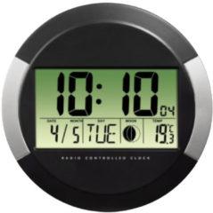 Hama Funkwanduhr Funkuhr mit Thermometer, Kalender, Mondphasen »digital, rund, 24,5cm, DCF«