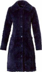 Pastunette de Luxe Pastunette Deluxe Dames doorknoop badjas - donkerblauw - 75192-321-6/526 - maat XXL