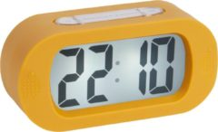 Gele Karlsson Alarm clock Gummy rubberized ochre yellow