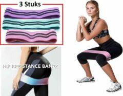 Petasos Weerstandsbanden - Resistance Band - Exercise banden - Fitness Banden - Gymnastiek Banden - Power Bands - Trainingsbanden - Heupbanden - S/M/L - 3 Stuks
