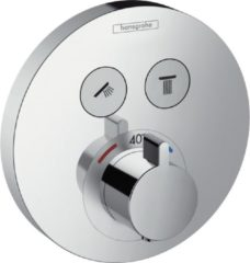 Hansgrohe ShowerSelect S afbouwdeel voor inbouwkraan thermostatisch met 2 stopkranen voor 2 douchefuncties chroom 15743000