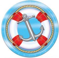 Fun & Feest Party Gadgets Marine thema wegwerp bordjes 8 st.