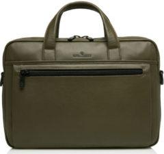 Castelijn & Beerens Nappa X Charlie Laptop / Tablet Tas 15.6'' dark millitary