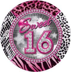 Roze Folat Sweet sixteen borden 8x
