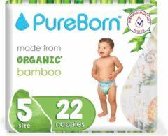 PureBorn luiers - Maat 5 (11-18kg) - 22 stuks | Flowers