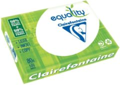 Gerecycleerd papier A4 wit 80 g Clairefontaine Equality - Riem van 500 bladen