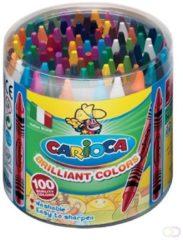Royal Talens Carioca waskrijt Wax, pot met 100 stuks in geassorteerde kleuren