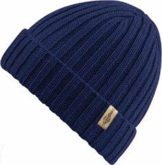 Ribbed Muts Blauw - Blauwe Beanie - Wakefield Headwear - Mutsen