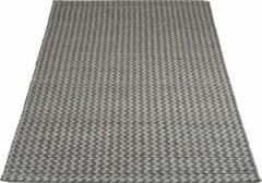 Antraciet-grijze Veercarpets Vloerkleed Tino - Antraciet - 200 x 280 cm - Wol - Viscose - Handgeknoopt kleed
