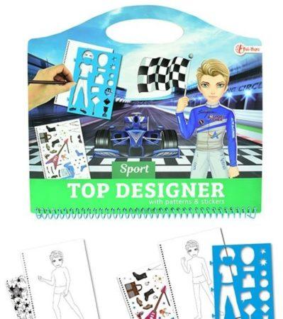 Afbeelding van Toitoys Toi-toys Tekenboek Racers Met Stickers
