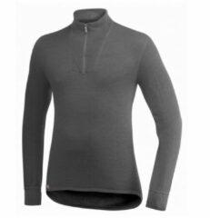 Grijze Woolpower - Zip Turtleneck 200 - Longsleeve maat XL zwart/grijs