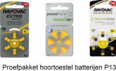 Horend Goed Hoortoestel batterijen - P10 - Geel - Probeer pakket - welke batterijen zijn het beste