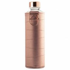 Equa glazen waterfles 750 ml Mismatch met hoes - Bronze