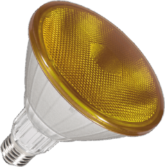 Segula reflectorlamp PAR38 LED geel 18W (vervangt 150W) grote fitting grote fitting E27