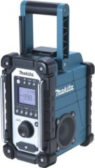 Makita DMR107 FM Bouwradio AUX, Middengolf, FM Spatwaterbestendig Groen, Zwart