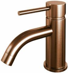 Douche Concurrent Toiletkraan Brauer Copper Edition Opbouw Gebogen Rond Geborsteld Koper Koudwaterkraan