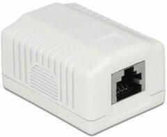 DeLOCK CAT6a Gigabit netwerk uitvoerdoos/montagedoos met 1 RJ45 poort - afgeschermd / wit