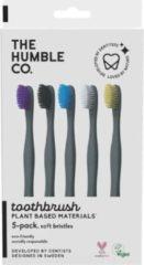 Paarse Humble Brush - Ecologische tandenborstel 5-pack