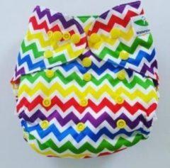 Merkloos / Sans marque O7 One Size Overbroekje zigzag kleur