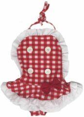 Merkloos / Sans marque Kinderbadpak - Retro badpak - rood wit - geruit - mt 92/98