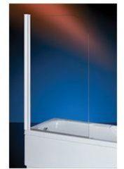 Plieger Royal badklapwand 6mm glas 68x140cm chroom profiel en helder glas 4283038