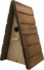 Naturelkleurige Garden Spirit - Vogelhuisje voor Pimpelmees - Nestkast Tipi 28 x 17 x 17 cm. - Bruin Naturel