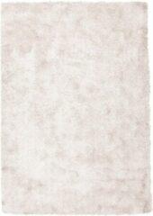 Roze Diamond Soft Rond Vloerkleed Creme Hoogpolig - 160x230 CM