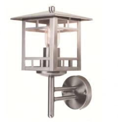 Roestvrijstalen Franssen verlichting Finmotion wandlamp staand vierkant - RVS
