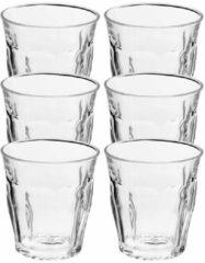 Duralex 6x koffie/espresso glazen Picardie transparant 160 ml - Whiskey glazen van glas 160 ml