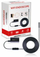 Zwarte TECHNOSMART Inspectiecamera, Endoscoop Camera met Wifi, IP67 Waterdichte Inspectie Camera, HD Snake Camera met LED, 3,5 m Snoer, Incl. Accessoires