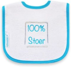 Funnies Babyslabbertje 100% Stoer Wit/Turquoise 36311