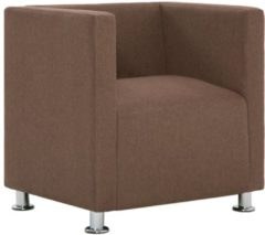 5 days Fauteuil kubus polyester bruin