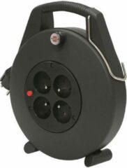 BRENNENSTUHL Huishoudelijke slanghaspel 10 m Comfort-Line CL-X zwarte kabel H05VV-F 3G1,5
