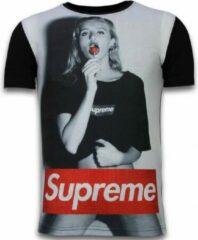 Tony Backer Lollipop - Digital Rhinestone T-shirt - Zwart Lollipop - Digital Rhinestone T-shirt - Zwart Heren T-shirt Maat L