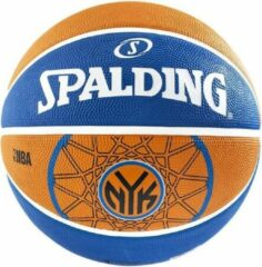 Spalding Basketbal NBA NY Knicks Oranje/Blauw Maat 7