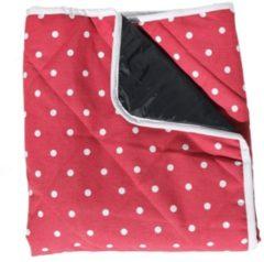 Rode Just a Joy Babydeken rood met witte stip