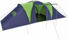 VidaXL Tent - Polyester - Blauw & Groen - 590x400x185 cm (B x D x H)
