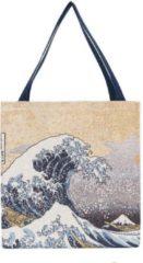 Blauwe Signare Boodschappentas groot - Great Wave of Kanagawa - Katsushika Hokusai