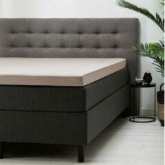 Zandkleurige Fresh & cold Verkoelend Topper Hoeslaken - Katoen - 180x200 cm - Katoen - Fresh & Co