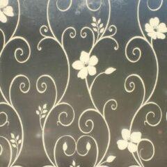 Merkloos / Sans marque Decoratieve raamfolie   gebloemd motief   zelfklevend   68 x 300   krasvast   uniek design