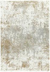 Eazy Living Easy Living - Dream-cream-gold Vloerkleed - 120x170 cm - Rechthoekig - Laagpolig Tapijt - Design - Goud, Grijs