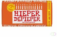 """PTMD Tony's Chocolonely Melk Karamel Zeezout - Zeg 't met een reep """"Hieper de pieper""""- Chocoladereep - 180 gram"""