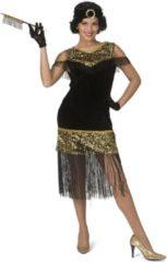 Funny Fashion Jaren 20 Danseressen Kostuum | Gouden Lovertjes Charleston Jaren 20 | Vrouw | Maat 44-46 | Carnaval kostuum | Verkleedkleding