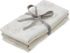 Zandkleurige Cam Cam Camcam hydrofiele doeken set v drie Dandelion Naturel, Light Sand, Creme White 70x70cm
