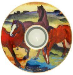 Die roten Pferde - Teelichthalter Artis Orbis Goebel Bunt